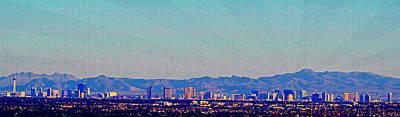 Las Vegas Artist Mixed Media - Las Vegas by Michelle Dallocchio