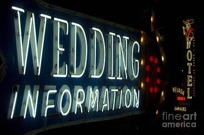 Las Vegas Wedding Photograph - Las Vegas Neon 5 by Bob Christopher