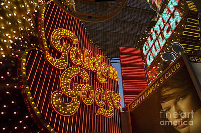 Freemont Street Photograph - Las Vegas Neon 9 by Bob Christopher