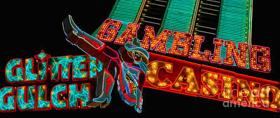Las Vegas Neon Signs Fremont Street  Art Print by Amy Cicconi