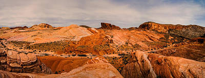 Las Vegas Nevada Mojave Desert Valley Of Fire Panorama Art Print