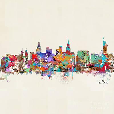 Painting - Las Vegas Nevada Skyline by Bri B