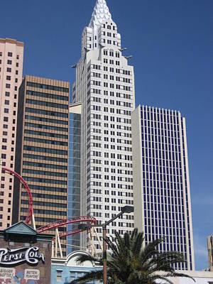 Las Vegas - New York New York Casino - 12125 Art Print by DC Photographer