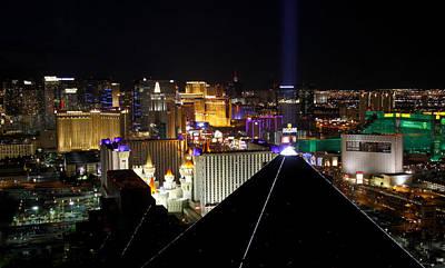 Las Vegas Night Pano Art Print by Jim Robbins
