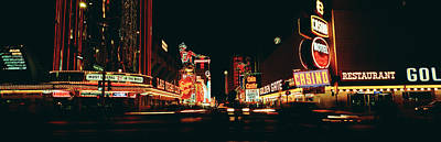 Las Vegas Nv Downtown Neon, Fremont St Art Print by Panoramic Images
