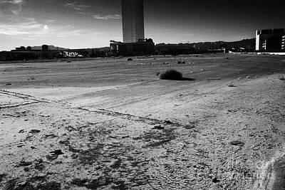 las vegas plaza empty vacant unused lot on the Las Vegas strip Nevada USA Art Print by Joe Fox