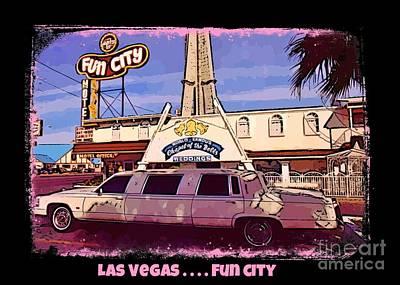 Las Vegas Wedding Photograph - Las Vegas Poster by John Malone