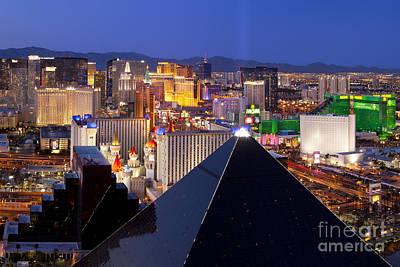Photograph - Las Vegas Skyline by Brian Jannsen