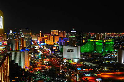 Tropicana Las Vegas Photograph - Las Vegas Strip At Night by Amanda Miles