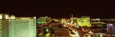 Las Vegas Strip At Night Las Vegas Nv Art Print by Panoramic Images