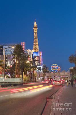Photograph - Las Vegas Strip Hotel And Casinos Nevada 2 by David Zanzinger