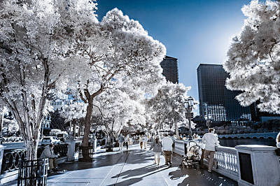Photograph - Las Vegas Strip In Infrared 1 by Jason Chu