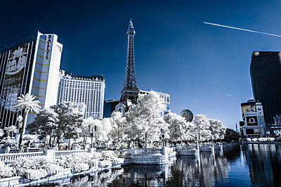 Photograph - Las Vegas Strip In Infrared 2 by Jason Chu