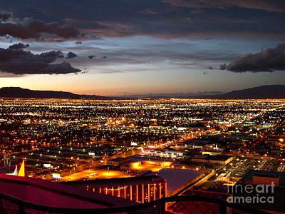 Las Vegas Sunset Art Print by Addie Hocynec