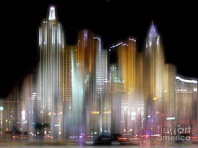 Las Vegas Surreal Art Print by Rod Jones