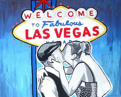 Las Vegas Wedding Art Print by Gary Niles