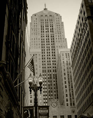 Photograph - Lasalle Street Chicago Illinois by Roger Passman
