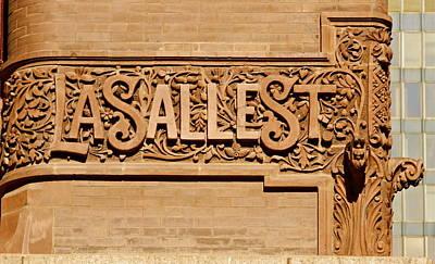 Lasalle Street Sign Print by John Babis