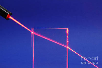 Laser Beam Refracting Art Print by GIPhotoStock