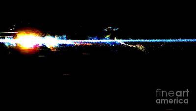 Laser Beam Art Print