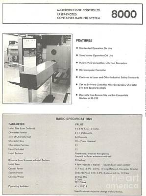 Mba Photograph - Laser Marking System by Ted Pollard