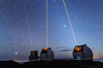 Keck Photograph - Laser Party Over Mauna Kea 2 by Jason Chu