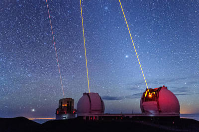 Photograph - Laser Party Over Mauna Kea 3 by Jason Chu