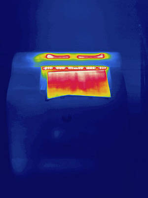 Laser Printer, Thermogram Art Print by Science Stock Photography