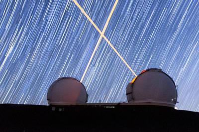Photograph - Lasers Crossed by Jason Chu