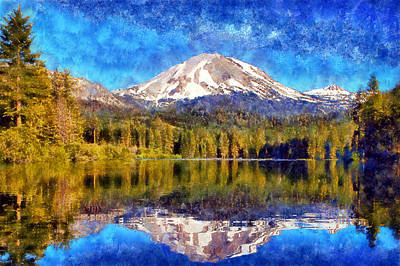 Digital Art - Lassen Peak by Kaylee Mason