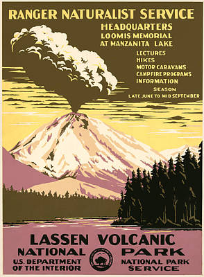 Lassen Painting - Lassen Volcanic National Park by Inknown