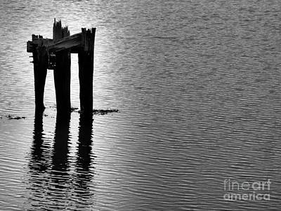 Photograph - Last Bits Of A Pier by Marcia Lee Jones