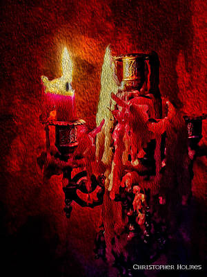 Photograph - Last Candle by Christopher Holmes