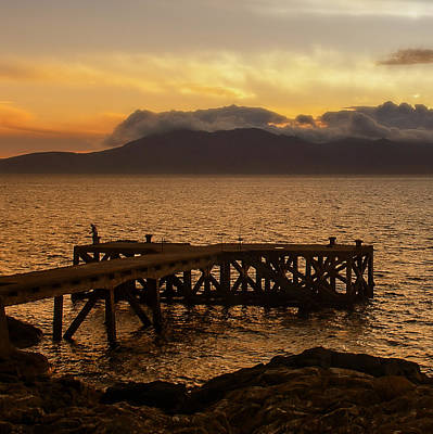 Photograph - Last Cast At Portencross Jetty by Fiona Messenger