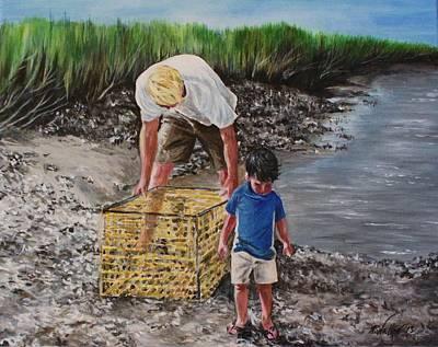 Isle Of Palms Painting - Last Catch Of Summer by Pamela Walker