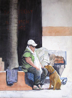 Painting - Last Connection 2 -street Romance by Ally Benbrook