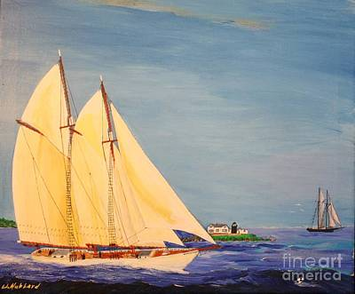 Painting - Last Cruise Of Sch. Arethusa by Bill Hubbard