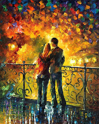 Free Painting - Last Date - Palette Knife Oil Painting On Canvas By Leonid Afremov by Leonid Afremov