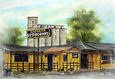 Franklin Tennessee Painting - Last Day At Dotson's by Tim Ross