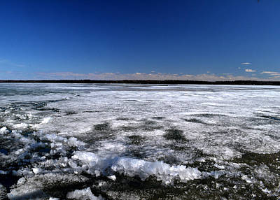 Last Day Of Ice On The Lake 3 Art Print by Lyle Crump