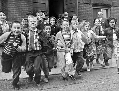 Adolescence Photograph - Last Day Of School by Underwood Archives