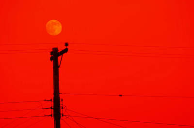Red Moon Rising Art Print by See My  Photos