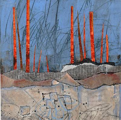 Abstract Collage Mixed Media - Last Days Of Winter by Laura  Lein-Svencner