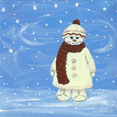 Painting - Last Decoration Snowman by Lynn Babineau