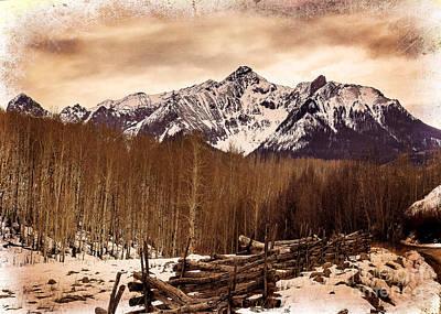 Last Dollar Road Winter Art Print