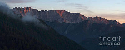 Photograph - Last Evening Rays - Julian Alps by Phil Banks