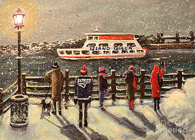 Painting - Last Ferry by Rita Brown