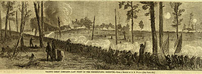 Pennsylvania Drawing - Last Fight Of The Pennsylvania Reserves by Quint Lox