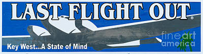 Mind Photograph - Last Flight Out A Key West State Of Mind - Panoramic by Ian Monk