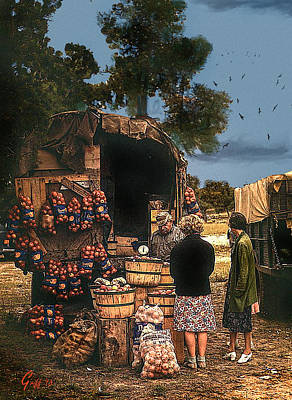 Last Fruit Wagon Of The Season Art Print by J Griff Griffin